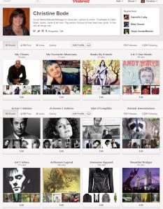 Christine Bode Pinterest profile