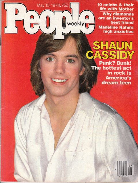 Shaun Cassidy People Magazine Cover May 15, 1978
