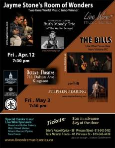 Live Wire Music Series shows for April and May 2013