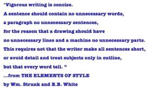 Writers advice from The Elements of Style