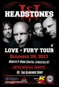 Headstones Love + Fury Tour