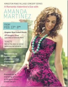 Amanda Martinez Valentine Concert - Kingston Road Concert Series