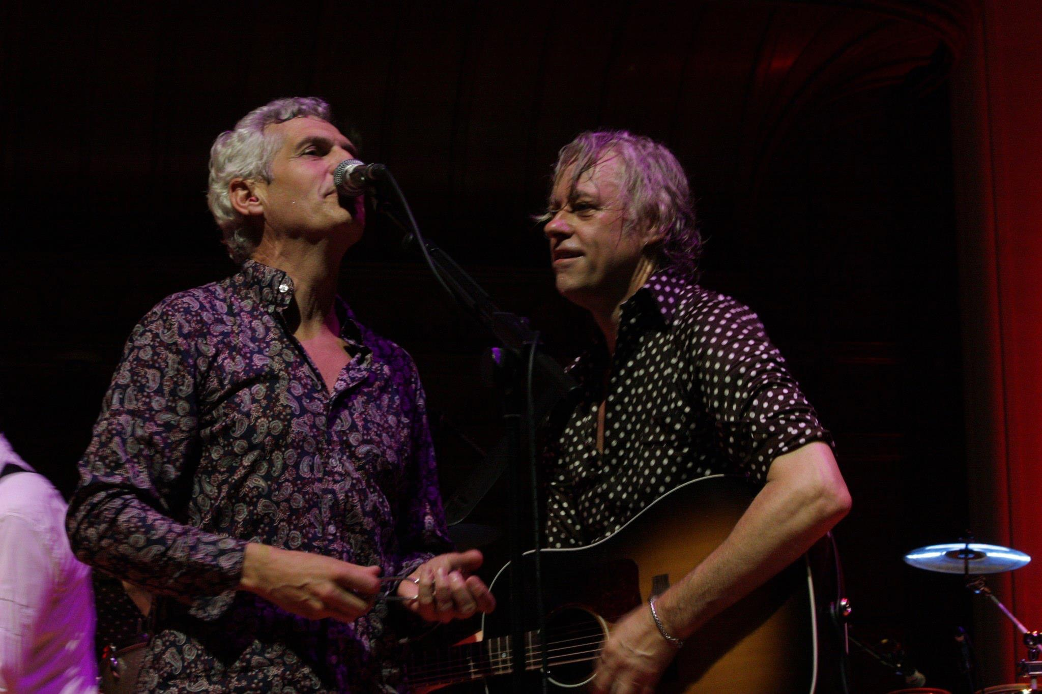 Niall Power and Bob Geldof
