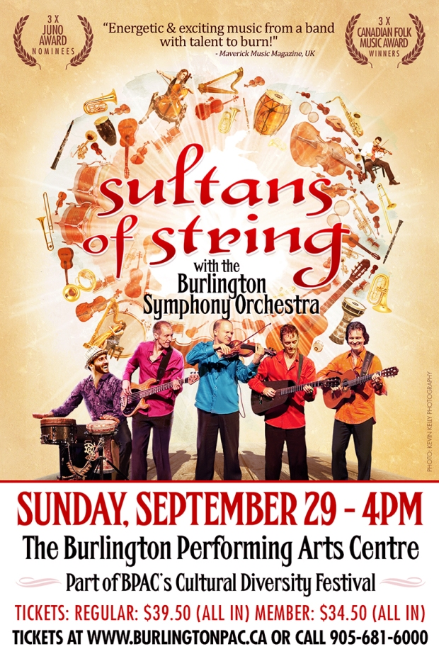 Sultans of String with the Burlington Symphony Orchestra