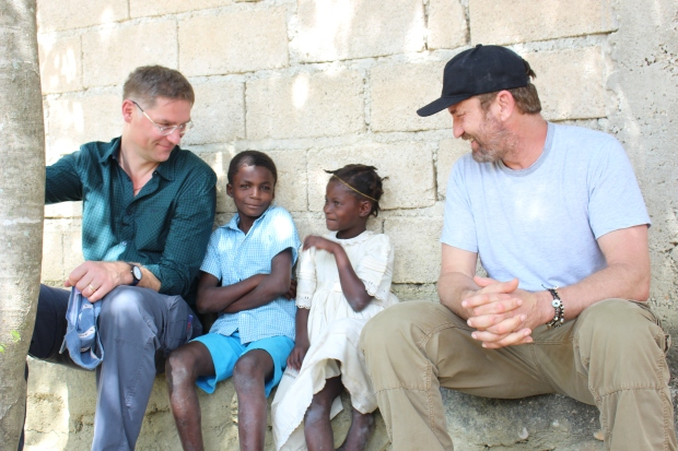 Magnus MacFarlane-Barrow and Gerard Butler for Mary's Meals